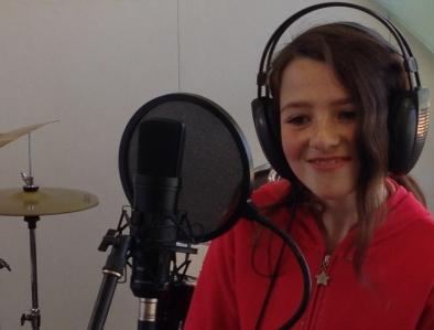 Recording Georgia on the kid's album, Musical Memories, at Mornington Park Primary School